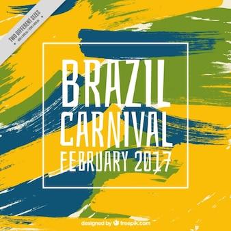 Fundo abstrato pinceladas de carnaval brasileiro