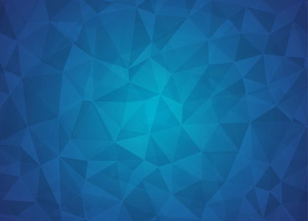 Fundo abstrato poli baixa de triângulos em azul escuro