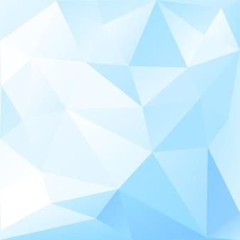 Fundo abstrato poli baixo de triângulos em cores azuis claras
