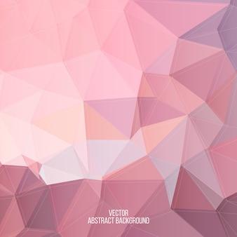 Fundo abstrato poli baixo rosa