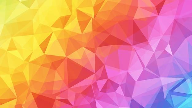 Fundo abstrato poligonal colorido