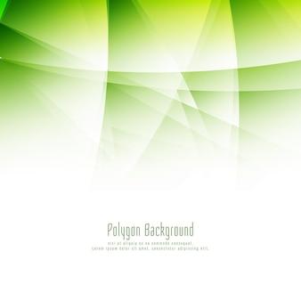 Fundo abstrato poligonal verde moderno