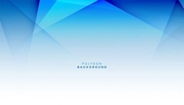 Fundo abstrato polígono azul