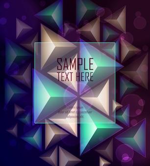 Fundo abstrato polígono com espaço para texto
