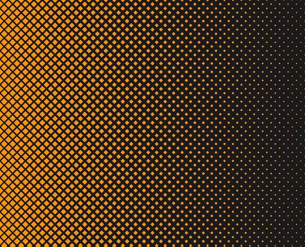 Fundo abstrato pontilhado de meio-tom impressão decorativa padrão monocromático com quadrados
