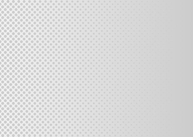 Fundo abstrato pontilhado de meio-tom padrão de pequenas bolinhas cinza em um fundo branco