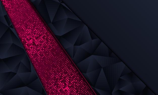 Fundo abstrato ponto poligonal e roxo da marinha. ilustração vetorial.