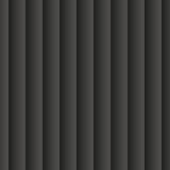 Fundo abstrato preto. 3d sem costura padrão geométrico. ilustração eps10 do vetor. modelo elegante feito de listras e bandas repetidas. cortina de janela.