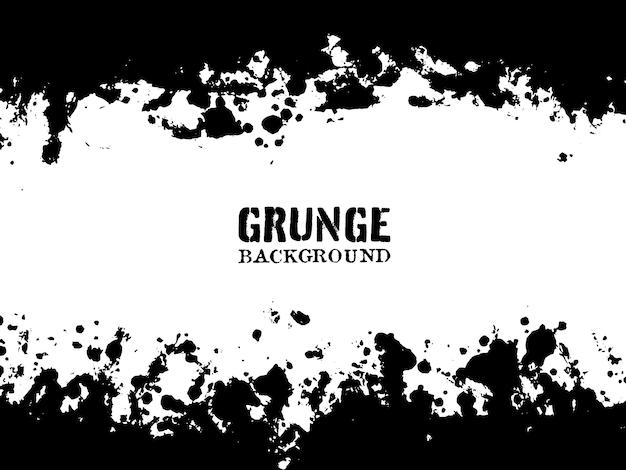 Fundo abstrato preto e branco do grunge