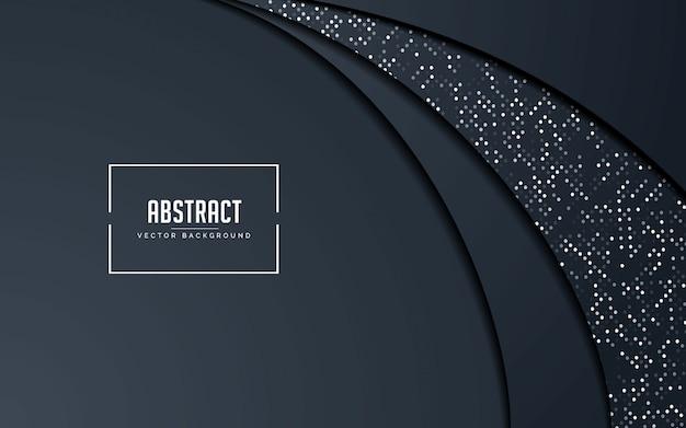 Fundo abstrato preto e cinza com brilhos de prata