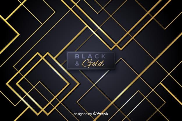 Fundo abstrato preto e dourado