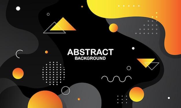 Fundo abstrato preto e laranja. composição de formas dinâmicas