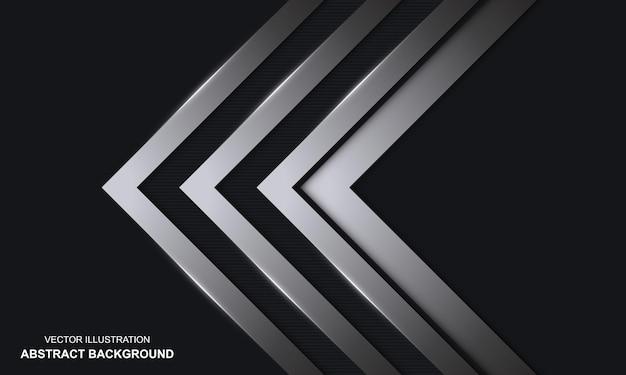 Fundo abstrato preto e prata luxuoso moderno