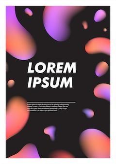 Fundo abstrato preto vertical com gotas de plasma líquido brilhante.