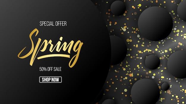 Fundo abstrato primavera ouro