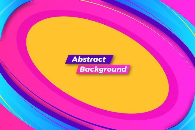 Fundo abstrato quadro feito com design de formas coloridas