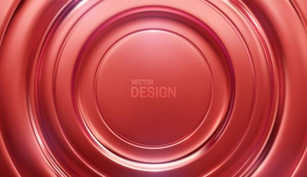 Fundo abstrato radial vermelho metálico
