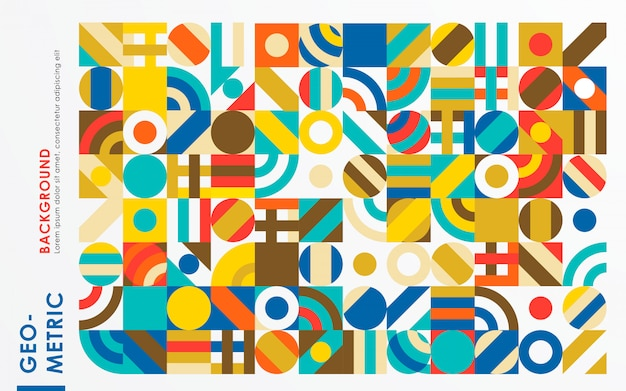 Fundo abstrato retrô forma geométrica