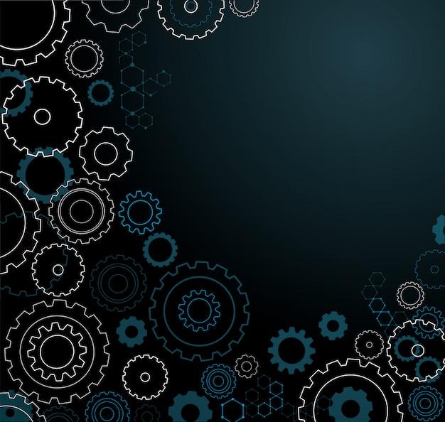 Fundo abstrato roda de engrenagens