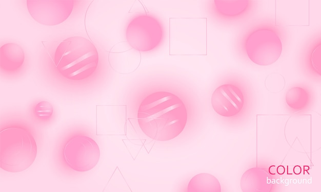 Fundo abstrato rosa. bolas rosa.