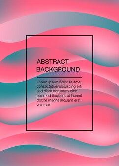 Fundo abstrato rosa e verde com ondas. ilustração vetorial