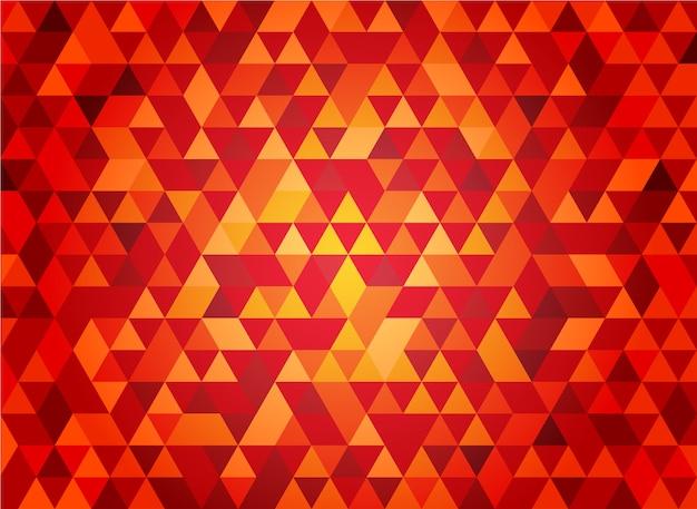 Fundo abstrato sem costura vermelho triangular forma geométrica