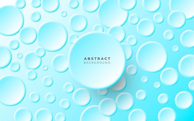 Fundo abstrato simples com círculos