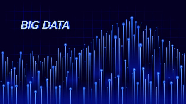 Fundo abstrato sobre a tecnologia grande dos dados no tema azul.