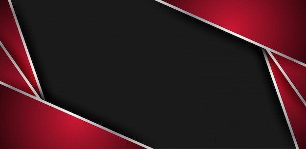 Fundo abstrato sobreposição geométrica vermelho-preto