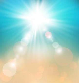 Fundo abstrato suave luz de verão
