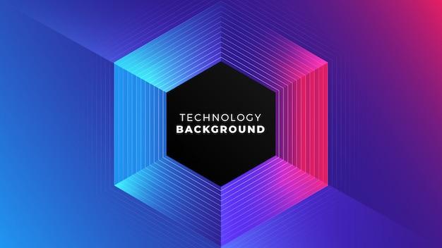Fundo abstrato tecnologia colorida