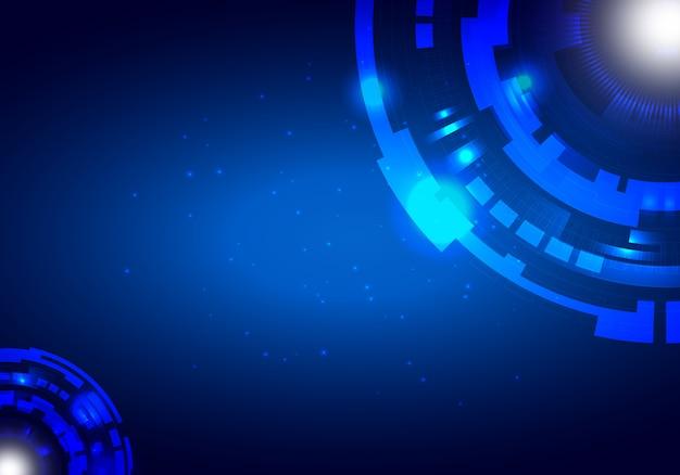 Fundo abstrato tecnologia com círculo