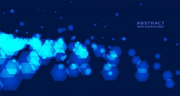 Fundo abstrato tecnologia com formas hexagonais
