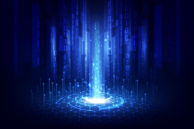 Fundo abstrato tecnologia com grande volume de dados