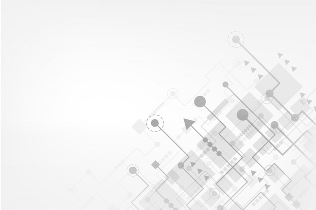 Fundo abstrato tecnologia com placa de circuito futurista