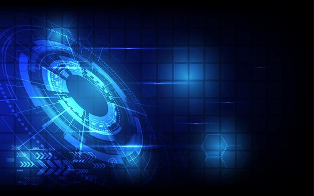 Fundo abstrato tecnologia conceito de comunicação de alta tecnologia futurista inovação digital ilustração de fundo