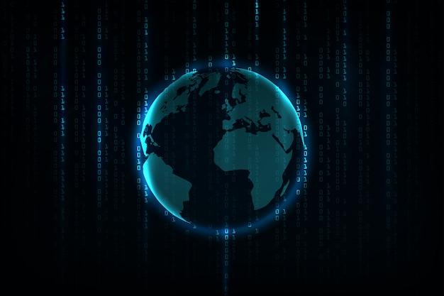 Fundo abstrato tecnologia. conceito de hacker, programação de codificação, código binário de computador.