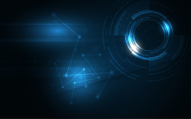 Fundo abstrato tecnologia fundo de inovação de conceito de comunicação hi-tech