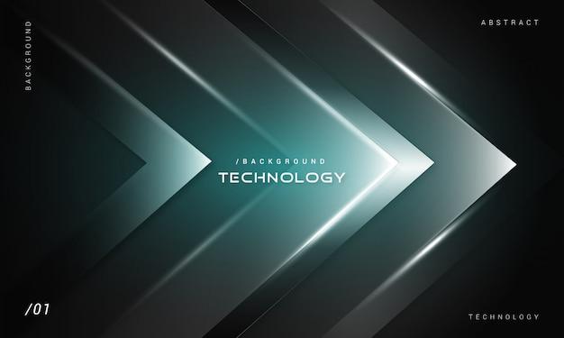 Fundo abstrato tecnologia futurista escuro