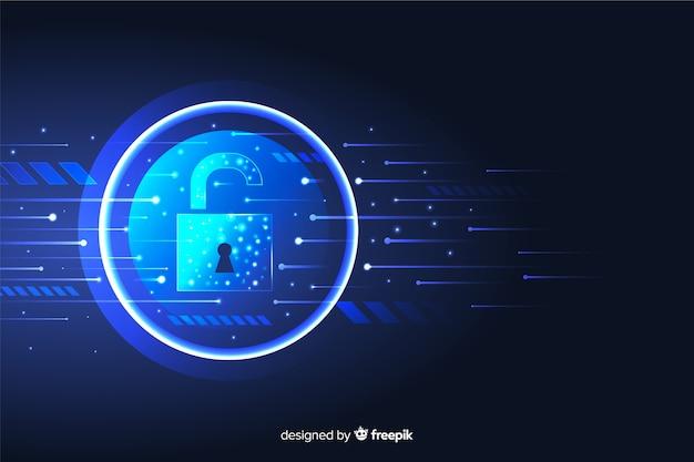 Fundo abstrato tecnologia segura