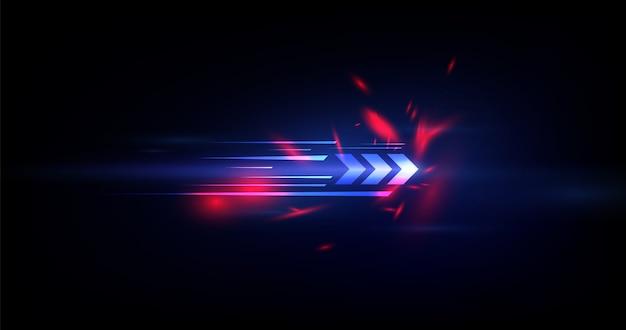 Fundo abstrato tecnologia velocidade