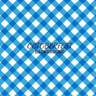 Fundo abstrato tema do festival de outubro azul branco padrão