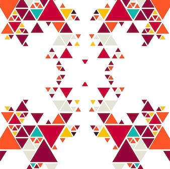 Fundo abstrato triângulo colorido