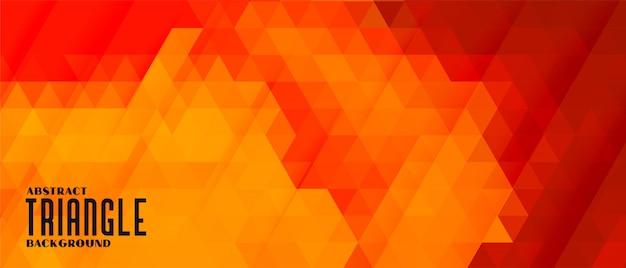 Fundo abstrato triângulo em cores quentes