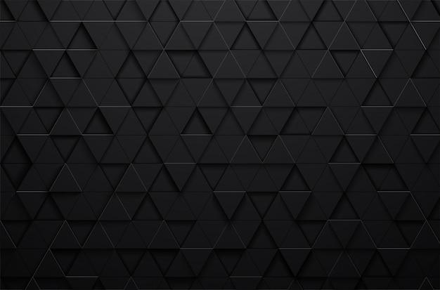 Fundo abstrato triângulo preto 3d