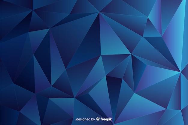 Fundo abstrato tridimensional de forma geométrica