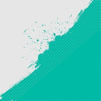 Fundo abstrato turquesa e branco com textura grunge