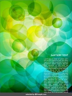 Fundo abstrato verde com bolhas