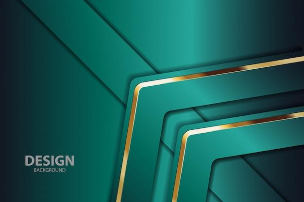 Fundo abstrato verde com detalhes dourados