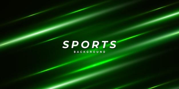 Fundo abstrato verde esportes modernos